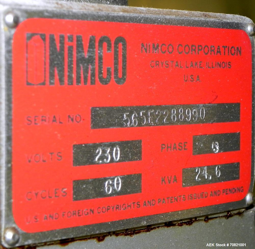 Used- Nimco Model 565E Gable Top Carton Former and Sealer