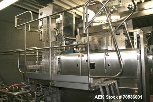 Used-TetraPak TBA 8 Base Line V60, stainless steel, 0.26 gallon (1,000 ml) containers and a capacity of 6,000 packages per h...