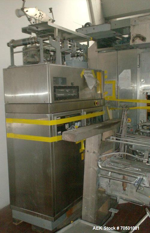 Used- TetraPak TBA 8 Slim Line, stainless steel, 16.9 oz (500 ml) containers, capacity is 6000 containers per hour.