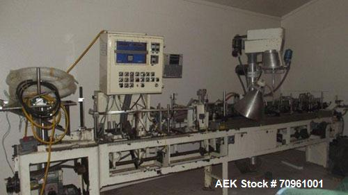 """Used- Bartelt Model IM-7 Horizontal Form Fill Seal Machine capable of speeds of up to 100 pouches per minute.  Has 7"""" center..."""