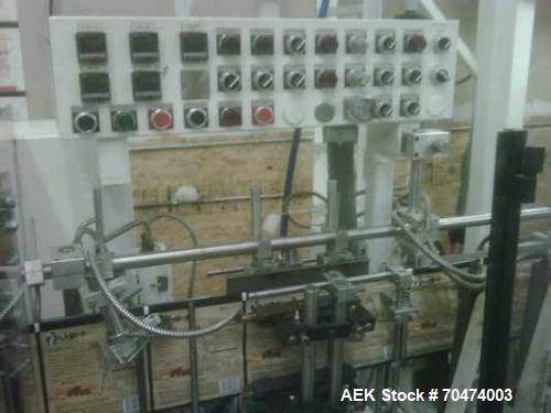 Used- Bartelt HMC, Model IM-10-8 Horizontal Pouchmaster. Reclosable zipper attachment, stand up pouch attachment, electric e...