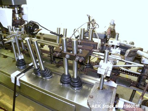 Used- Bartelt IM7- 14 Horizontal Form Fill & Seal Pouch Machine. Equipped with Funnel Pocket product filler cups for high sp...