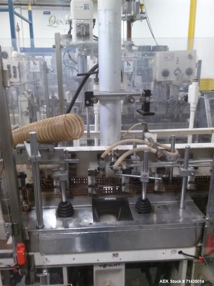 Used-Bartelt Model IM Packager Horizontal Form Fill and Seal Pouch/Bag Machine. Machine is capable of speeds up to 100 pouch...