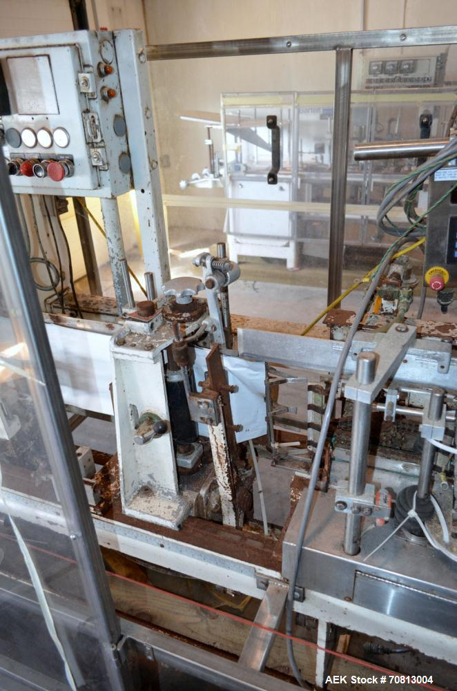 """Used-Klockner Bartelt IM9-14 Horizontal Form Fill & Seal Pouch Machine. Capable of speeds of up to 70 CPM. Has a 9"""" centers ..."""