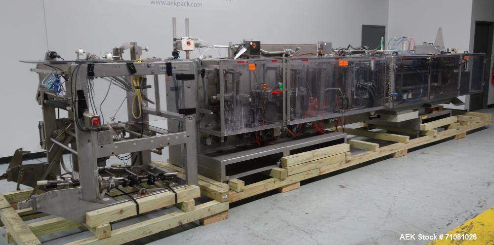 Used- Bossar Model B3700D2E Horizontal Pouch Form Fill Seal Machine