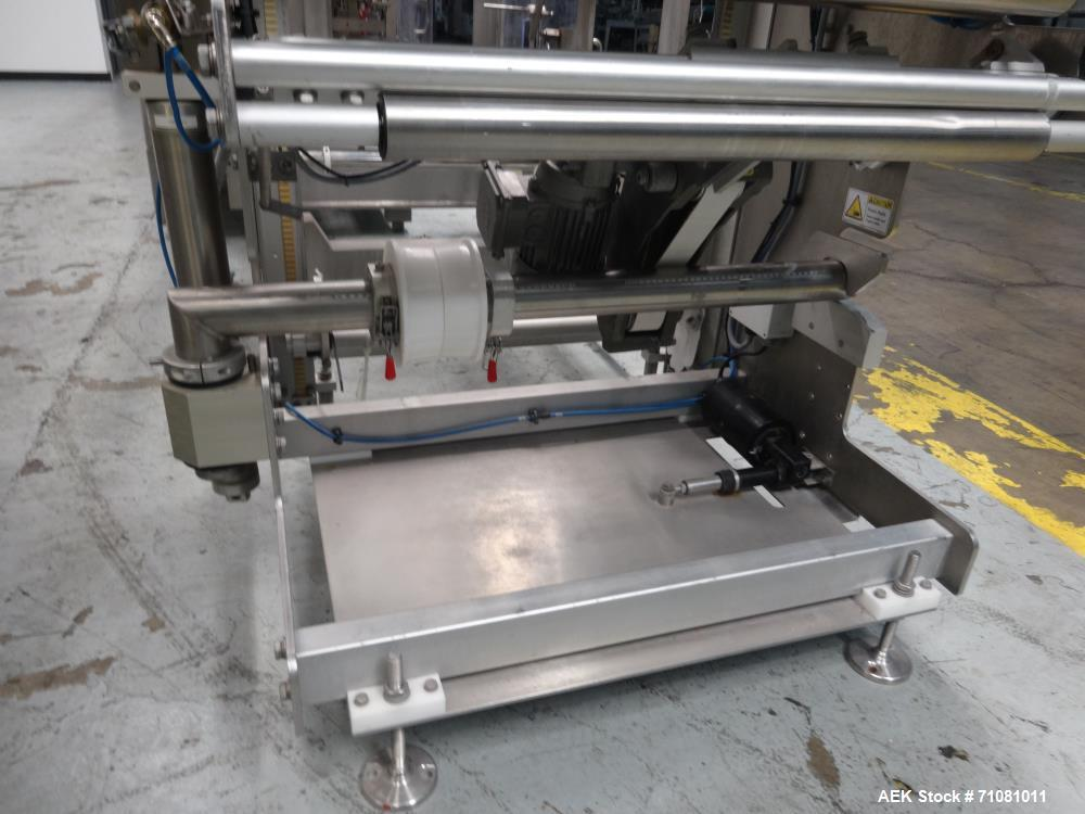 Used- Bossar Model B3700D Horizontal Pouch Form  for Dual Head Filler,  Allen-Bradley controls, produces horizontal pouches ...