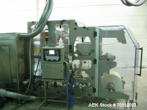 Used- Bossar Horizontal Pouch Packing Machine, Model BL 3000. Duplex machine with full stainless steel body suitable for hig...
