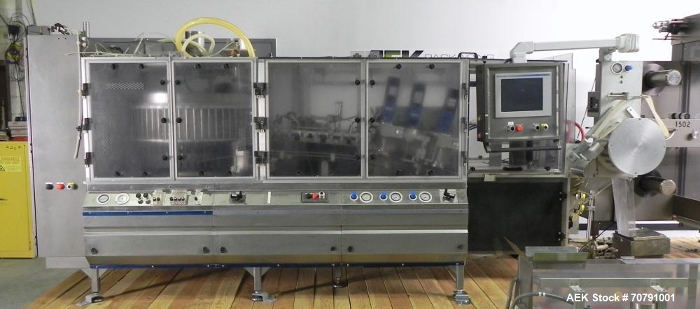 Used- Cloud Packaging Systems Pouch Form Fill Seal, model ServOriginal High Speed Pouch Machine (sn 3289). Machine rated for...