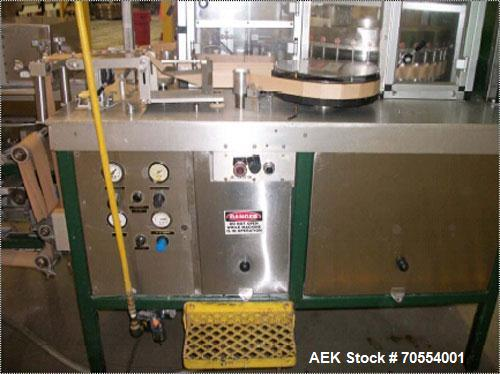 Used-Jones 36 Pocket High Speed Rotary Pouch Machine capable of speeds from 800 to 1000 pouches per minute. Currently set up...