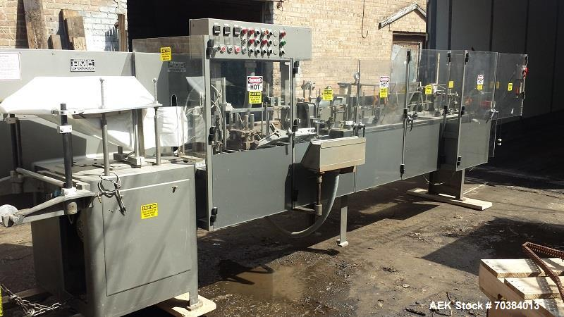 Used- HMC/Bartelt IM10-10 Poucher, Model - IM 10-10. Bartelt horizontal style poucher. Right hand machine with four point pl...