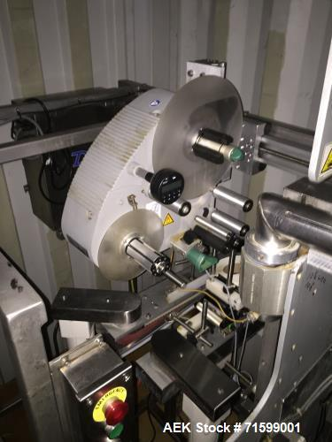 Used- Jones Pouch King Adjustable Center High Speed Pouch Machine. Last running at speeds of 500 pouches per minute. Pouch s...