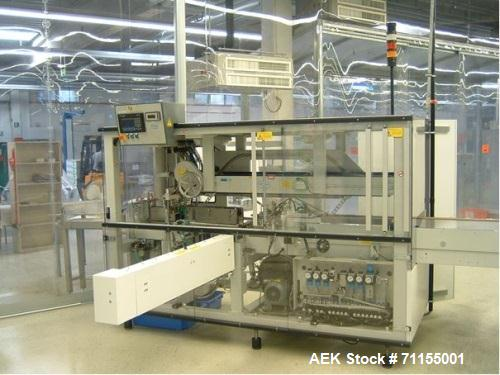 Used- Optima Horizontal Form Fill Seal Machine. Machine used for hygiene products such as sanitary towels filled into polyet...