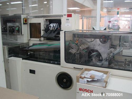 """Used-Bosch Servac PH2-CS4 Blister Packer.Manufactured 1985.Capacity 300 units/minute, currently set up for 1.4"""" x 3.3"""" (36 x..."""