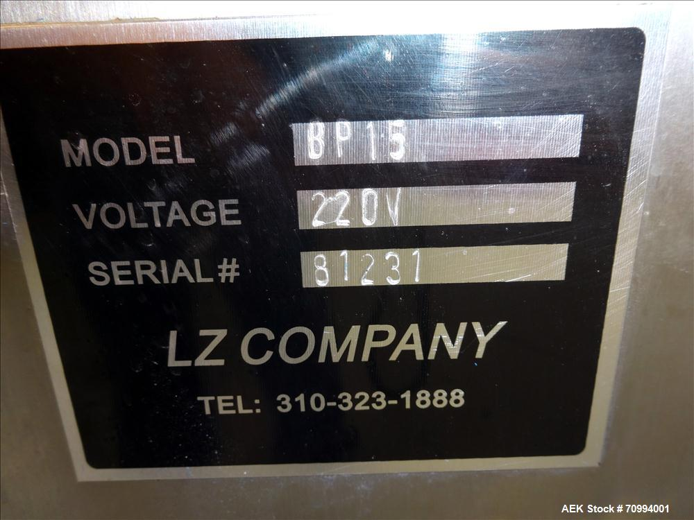 Used- LZ Company Model BP15 Automatic Blisterpack Machine