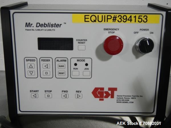 Used- Gemel Mr. Deblister Unit