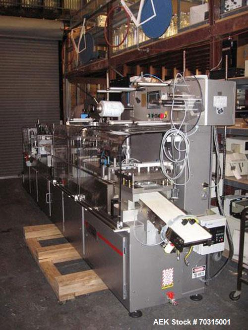 "Used- Klockner Model CP3, Automatic Blister Packaging machine. Last used to package a medical product. Film width 6"". Former..."