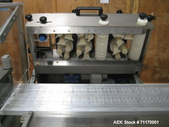 Used- Mario Circca Blister Packer, Model MAC S-400. 400 blisters per minute. Machine length 4500 mm, machine width 1280mm, m...