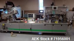 Used- Romaco High Performance Platen Sealing Machine; Model NOACK 623-L. Forming Cycles = 60-80. Cutting Cycles 80. Max form...