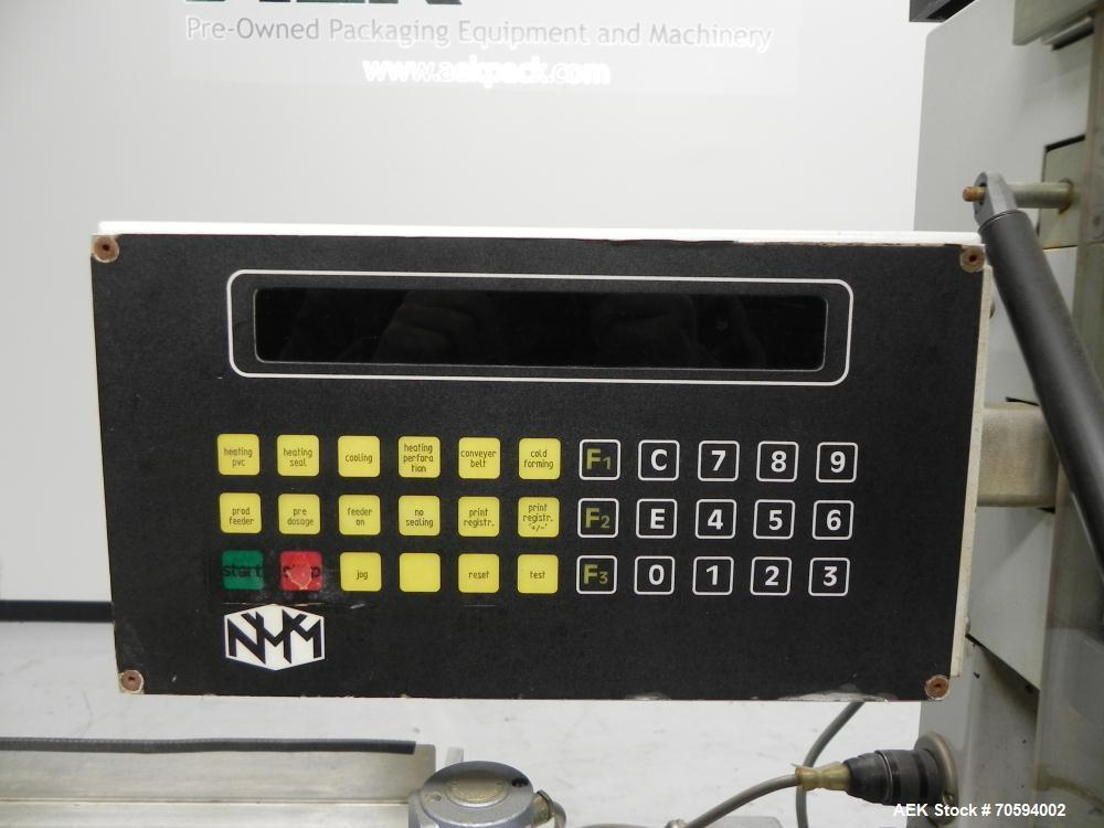 Used- Noack Model DPN 760 Blisterpack Thermoformer Machine. Capable of speeds up to 60 cycles per minute. Maximum foil width...