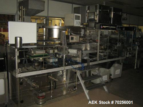 "Used-PamPac BP602 Blister Packaging Machine, stainless steel, 45 cycles per minute, format 6.38"" x 0.4"" x 0.12"" (162 x 10 x ..."
