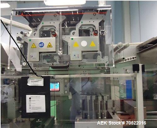 Used-Uhlmann UPS 4 Blister Drawing / Sealing Machine for ALU/ALU.  Maximum output 400 blisters per minute, maximum film widt...