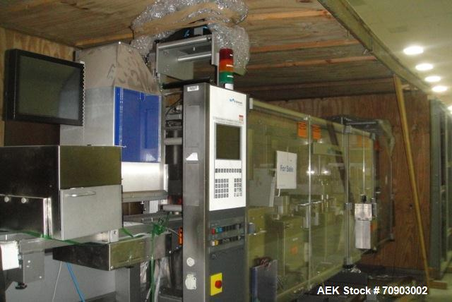 Used- UHLMAN Blister Thermoformer Machine. Model UPS-4 (1998) Includes Neslab Chillers, Spare Parts, Sealing & Formation Dies