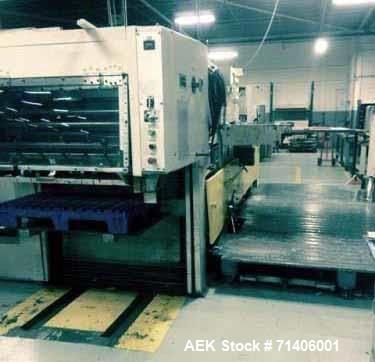 """Used- Bobst Converting Machine, Model SP 1120EE. 31 x 44"""", double action stripping, right and left hand side guides. 6,500 s..."""