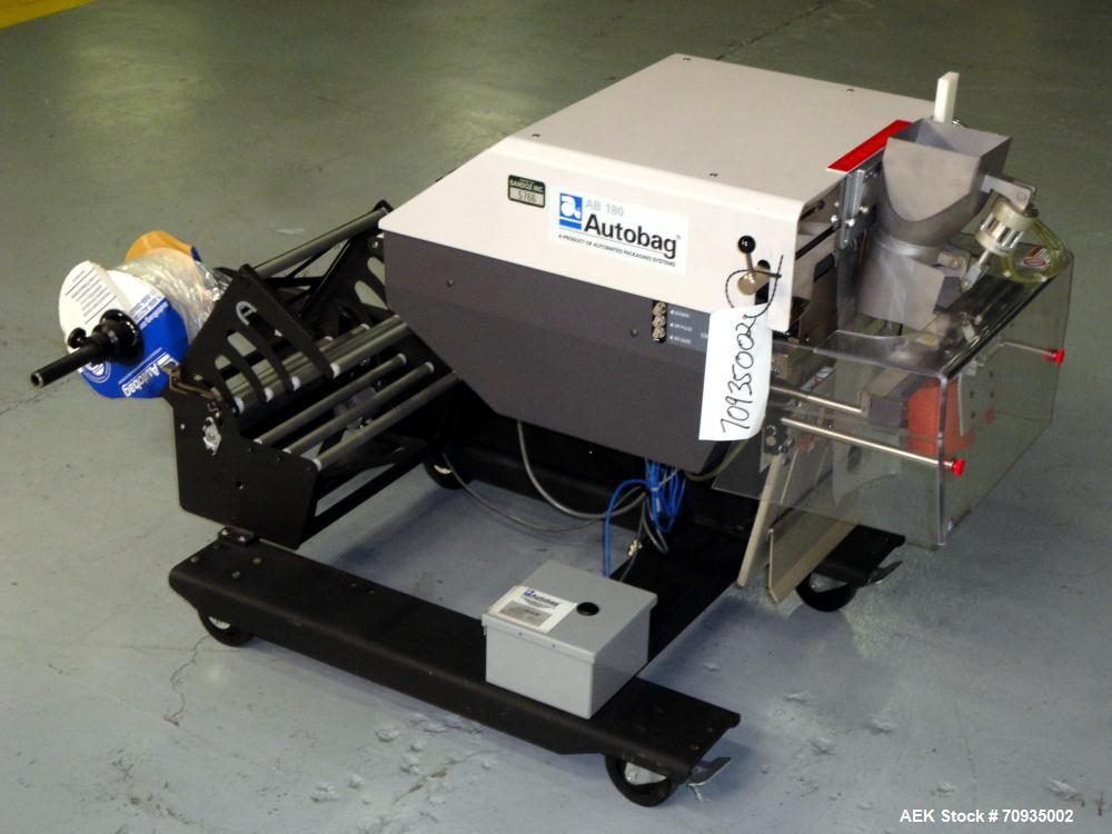"Used- Automated Packaging Systems Autobag Model AB 180 Bagger. Capable of up to 80 bags per minute. Has bag size range of 2""..."