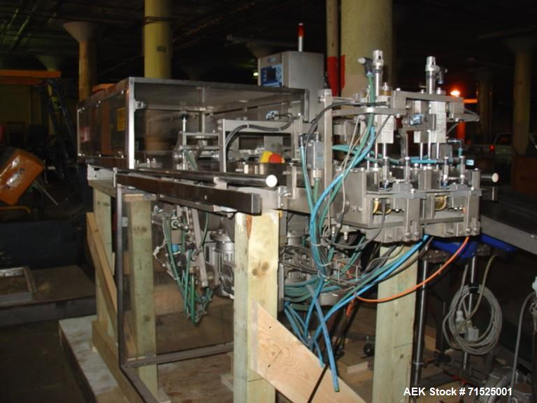Used- Laudenberg Duplex Pre-Made Pouch Machine, Model FBM20. Max width pouches up to 115 mm, min 60 mm, length at present 7....
