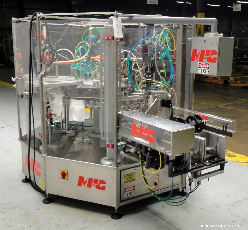 Used- MFG Inc Model Gemini Preformed Pouch Packaging Machine