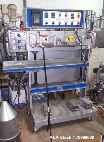 Used- PakSource PSG Mini PMP Liquid Pouch Filler/ Sealer. Stainless steel contact parts, piston fill, rated up to 8 pouches ...