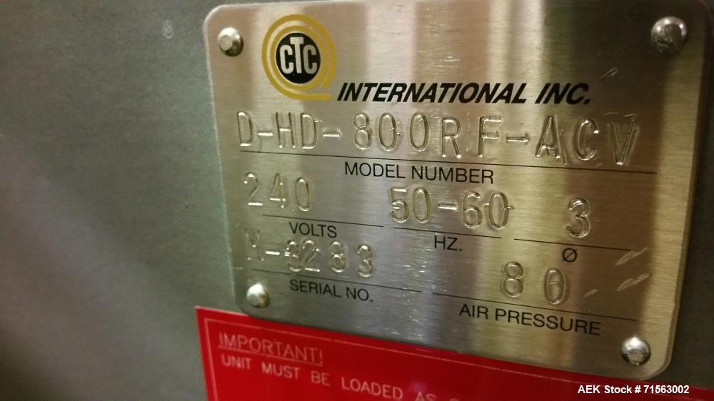 "Used-2007 New CTC International MultiVac Film Feeder, Model D-HD-800RF-ACV RH 18"" W Pizza, S/N M-3283, Order #33110 with Con..."