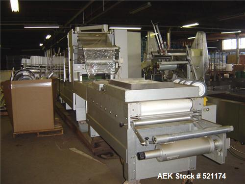 USED: Multivac model CD6000 thermo form-fill-seal machine. Last used in meat application. Built 1990.