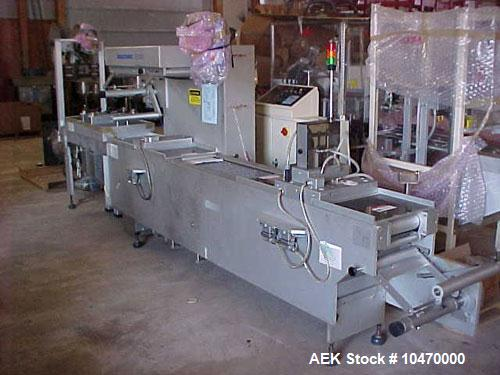 Used- Multivac Thermoformer Roll Stock Machine, model M860F/MC. Unit can pull vacuum or gas flush on product, all stainless ...