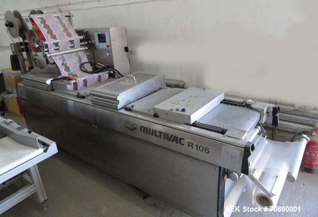 """Used-Multivac R105 Packaging Machine.  Nominal machine width 11.022, 12.59"""", 13.97"""" (285, 320, 355 mm).  Cut-off lengths:  7..."""