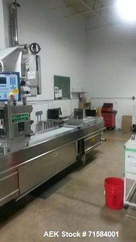 Used- Multivac R230 Roll Stock Thermoformer. Has plug assist and gas flush. Last used in medical device. 320mm web width. In...