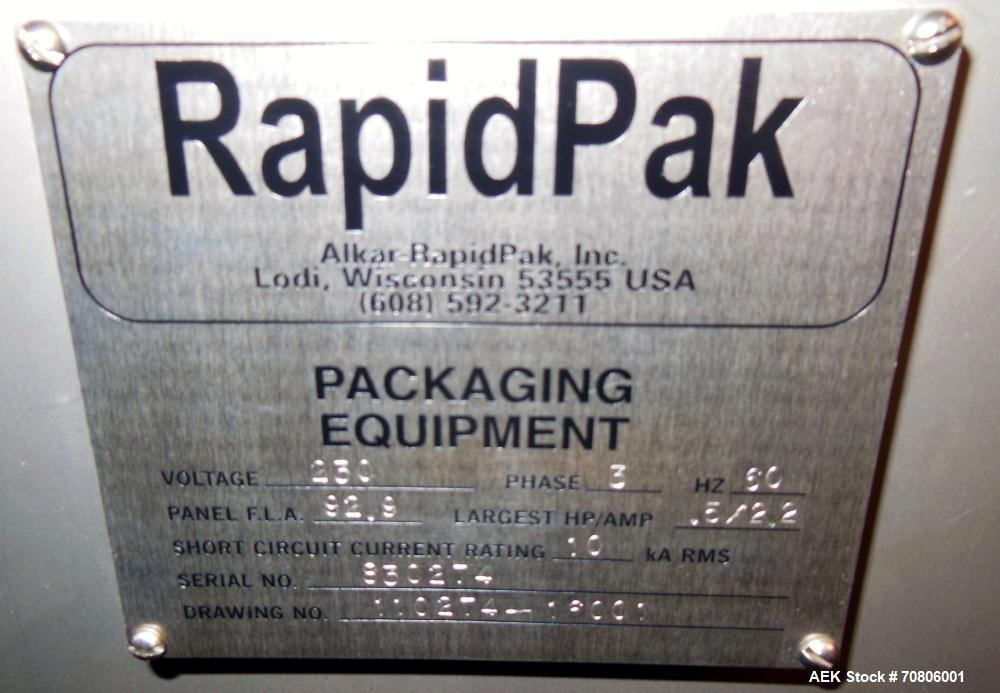 """Used- RapidPak Model RP-30 Horizontal Form Fill & Seal Thermoformer. Capable of up to 25 cycles per minute, up to 7""""(178mm) ..."""