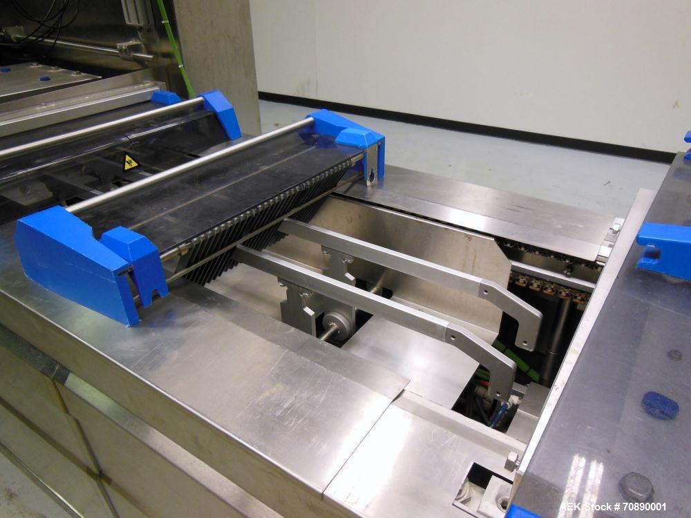Used- Repak (Reiser) Model RE20/4 FB420 Horizontal Form Fill Seal Thermoform Rollstock MAP Packager. 420mm web width, 380m u...