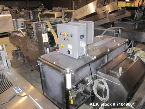 Used- Ross model 3320, Four Lane Stainless Steel Gas Flush Vacuum Tray Sealer
