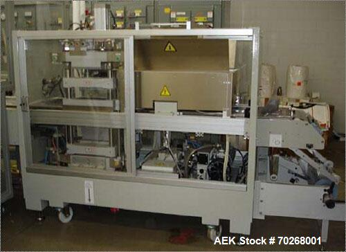 Used-Ulma Blister Pack Thermo Former, Model Univers 3500 Index. Set up for business cards, ouoter package 73 long x 116 wide...