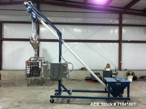 Used-All Fill Model Avatar A-1200 vertical form, fill, seal machine with auger filler.