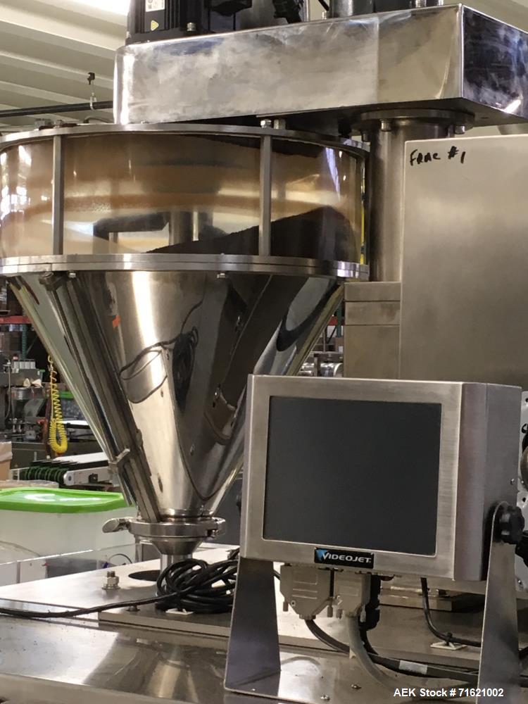 Used- American Packaging and Plant Equipment Vertobagger Tomcat Machine. 50 Liter Hopper, 20g-1500g fill weight, Servo motor...