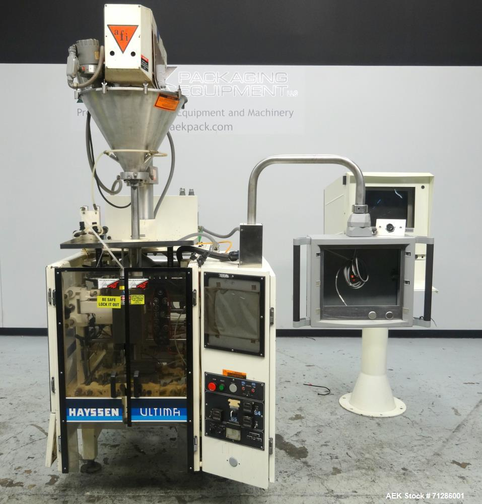 Used- Hayssen Model Ultima CoffeeMAX Vertical Form Fill and Seal Machine with Al