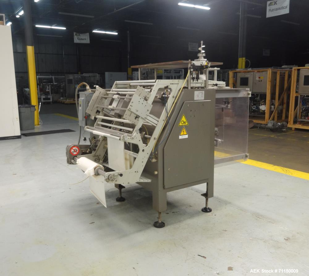 Used- Ilapak Vegatronic Model VT400S Vertical Form Fill Seal With All Fill  Auge