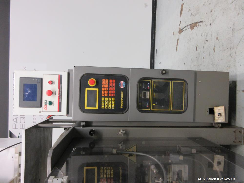 Used- Ilapak Vegatronic Model VT400S Vertical Form Fill Seal Pouch Packer