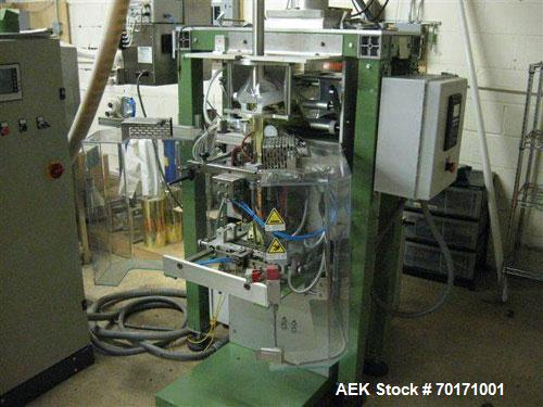 Used-IMAN Pack Vertical Form-Fill-Seal Machine, model Microvert M80 Cell. Photoelectric print registration, gusseting system...