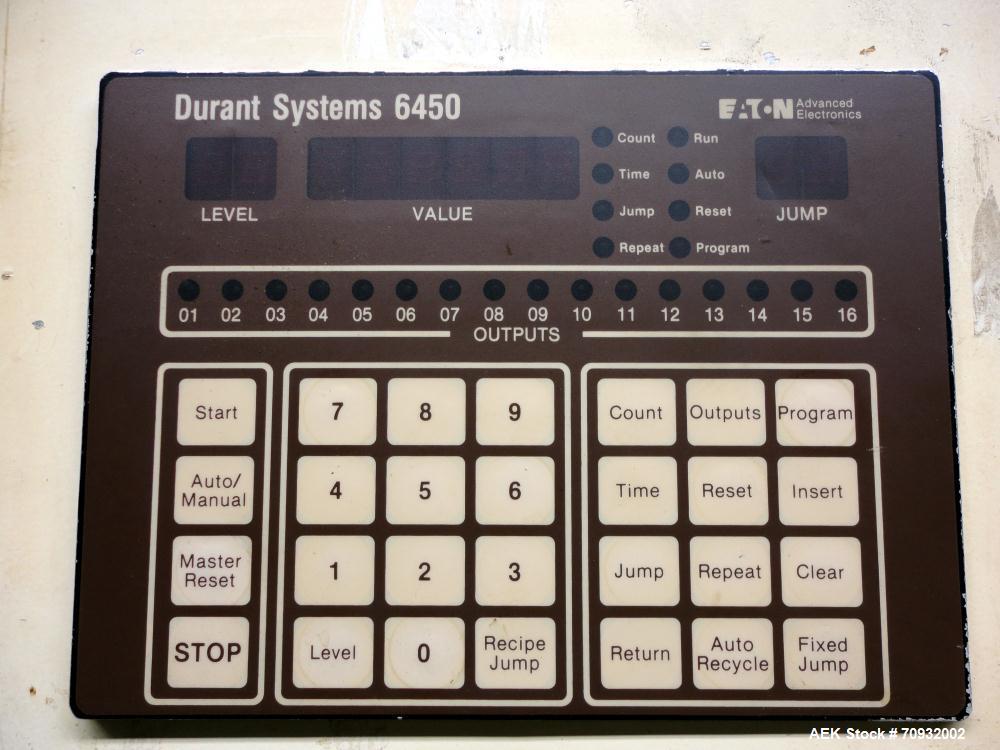Used- Keypak V300B Vertical Form Fill Seal Machine with Mateer 1900 Auger Filler
