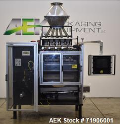 Used-Ropak Stik Pack vertical form fill seal machine. Capable of speeds up to 120 cycles per minute. Last running a 5 up sti...