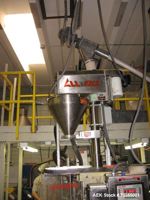 Used-Used: Sandiacre TG250LD vertical form fill & seal machine with auger filler for dry seasonings. Servo driven unit, All ...