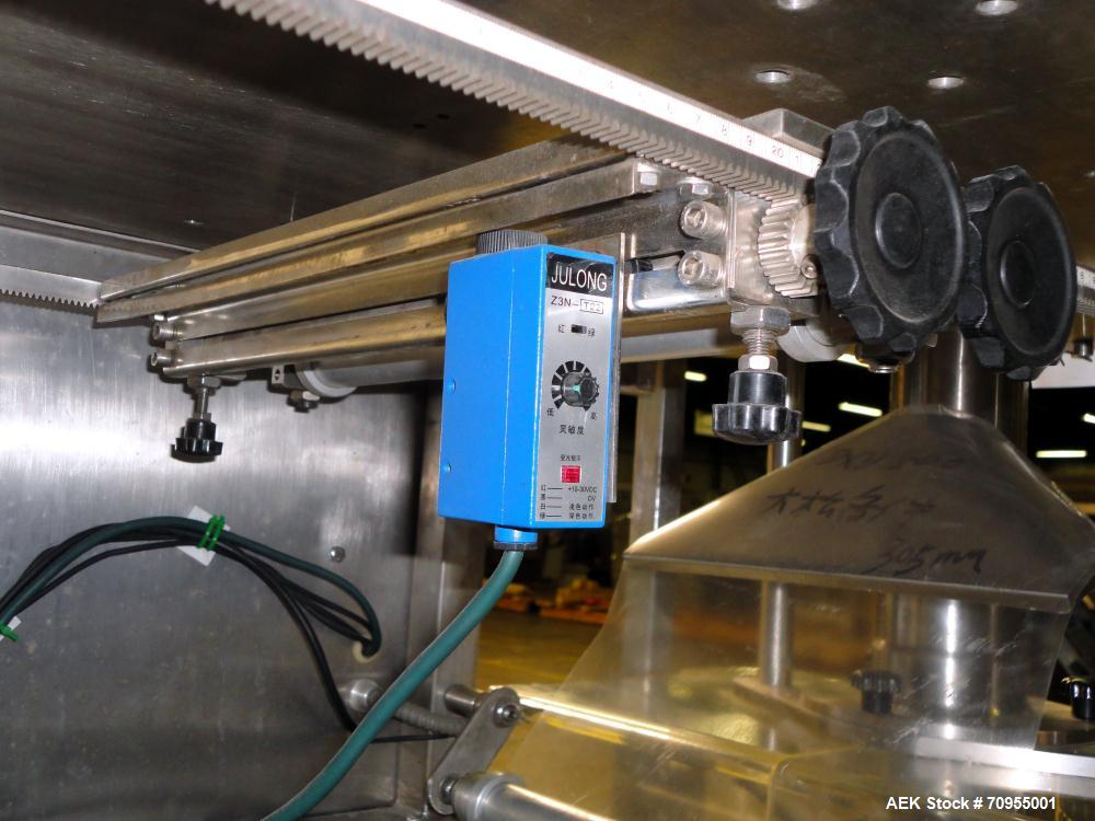 Used- Telesonic Model SB-500 Vertical Form Fill and Seal Machine